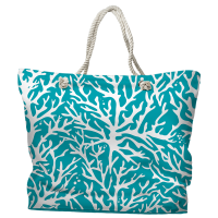 Coral Turquoise Tote Bag