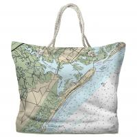 NJ: Ocean City, Great Egg Harbor Inlet, NJ Nautical Chart Tote Bag