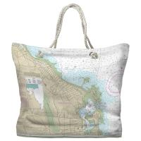 MA: Scituate Harbor, MA Nautical Chart Tote Bag
