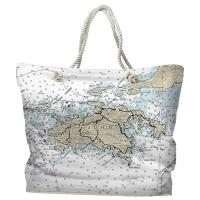 USVI: St. John, USVI Nautical Chart Tote Bag