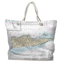 USVI: St. Croix, USVI Nautical Chart Tote Bag
