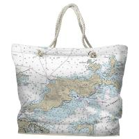 BVI: Tortola, BVI Nautical Chart Tote Bag