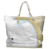 CA: Half Moon Bay, CA Nautical Chart Tote Bag