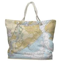NY: Staten Island, NY Nautical Chart Tote Bag