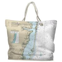 NJ: Barnegat Bay, Toms River to Barnegat Inlet, NJ Nautical Chart Tote Bag