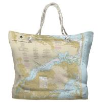 NJ: Navesink and Shrewsbury Rivers, Redbank, Rumson Neck, NJ Nautical Chart Tote Bag