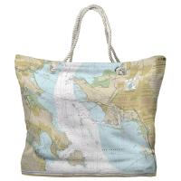 CA: San Francisco Bay, Angel Island to Point San Pedro, CA Nautical Chart Tote Bag