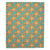 Starfish in Waves Blanket