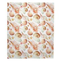Key Biscayne Shell Toss Blanket