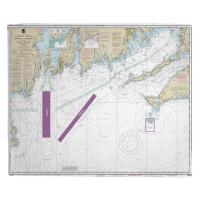 MA-RI: Martha's Vineyard, MA to Block Island, RI Nautical Chart Blanket