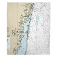 NJ: Toms River, Island Beach, Manasquan, NJ Nautical Chart Blanket