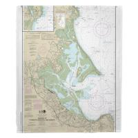 MA: Harbors of Plymouth, Kingston and Duxbury, MA Nautical Chart Blanket
