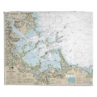 MA: Boston Harbor, MA Nautical Chart Blanket