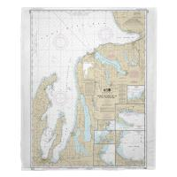 MI: Grand Traverse Bay to Little Traverse Bay, MI Nautical Chart Blanket