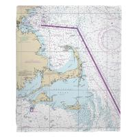 MA: Cape Cod, Martha's Vineyard, Nantucket, MA Nautical Chart Blanket
