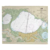 LA: Lakes Pontchartrain and Maurepas, LA Nautical Chart Blanket