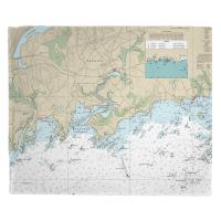 CT: Branford, CT Nautical Chart Blanket