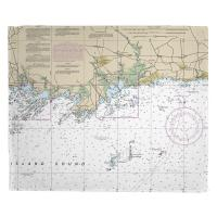CT: Guilford, Madison, CT Nautical Chart Blanket