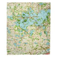 MN: Lake Minnetonka, MN (1958) Topo Map Blanket