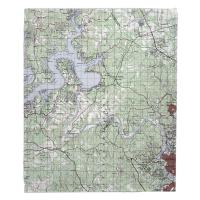 TX: Lake Travis, TX Topo Map Blanket
