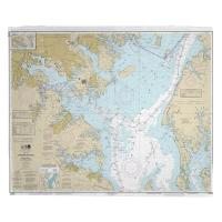 MD: Chesapeake Bay; Approaches to Baltimore Harbor, MD Nautical Chart Blanket