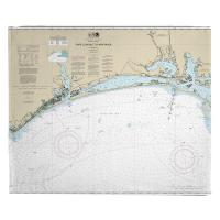 NC: Cape Lookout to New River, NC Nauitcal Chart Blanket