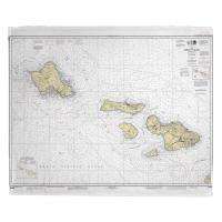 HI: Hawaii to Oahu, HI Nautical Chart Blanket