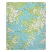 NC: Lake Norman North, NC (1970) Topo Map Blanket