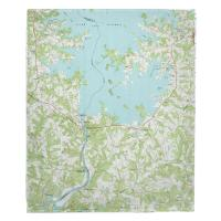 NC: Lake Norman South, NC (1970) Topo Map Blanket