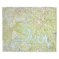 MO: Table Rock Lake, MO (1985) Topo Map Blanket