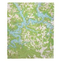 KY: Nolin Lake, KY (1966) Topo Map Blanket