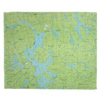 ME: Moosehead Lake, ME (1985) Topo Map Blanket