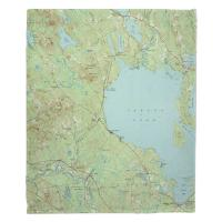 ME: Sebago Lake, ME (1942) Topo Map Blanket