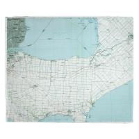 MI: Lake St. Clair South, MI (1985) Topo Map Blanket