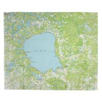 MN: Mille Lacs Lake, MN (1985) Topo Map Blanket