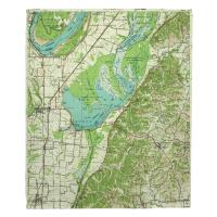 TN: Reelfoot Lake, TN (1956) Topo Map Blanket