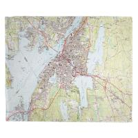 MA: Fall River, MA (1985) Topo Map Blanket