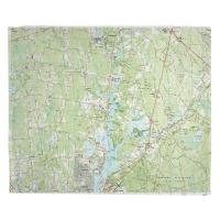 MA: Taunton, Somerset, MA (1985) Topo Map Blanket