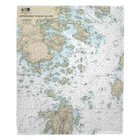 ME: Deer Isle, ME Nautical Chart Blanket
