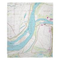 AR-TN: Fletcher Lake, AR; MS River; Lake McKellar, TN (1966) Topo Map Blanket
