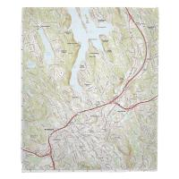 CT: Danbury, CT Topo Map Blanket