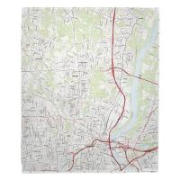 CT: Hartford North, CT Topo Map Blanket