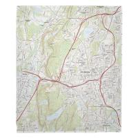 CT: New Britain, CT Topo Map Blanket