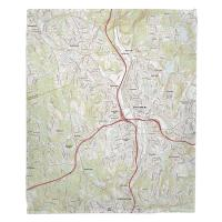CT: Waterbury, CT Topo Map Blanket