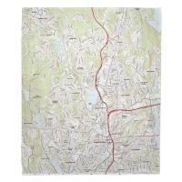 MA: Worcester North, MA Topo Map Blanket