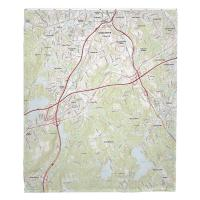 MA: Worcester South, MA Topo Map Blanket