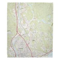 NH: Manchester North, South Hooksett, NH Topo Map Blanket