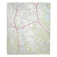 NH: Manchester South, NH Topo Map Blanket