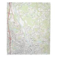 NH: Nashua North, NH Topo Map Blanket