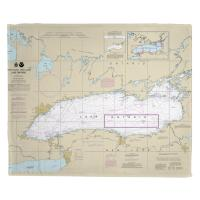 Lake Ontario Nautical Chart Blanket